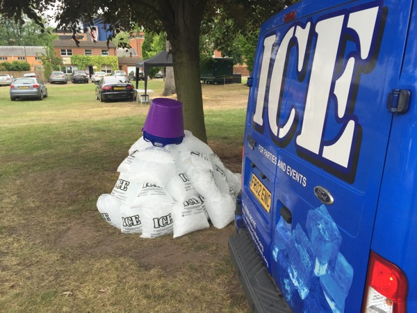 50 bags of ice cubes and 5 x 45 litre ice buckets.